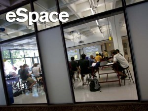 First day of classes in the new eSpace studio, Fall 2011