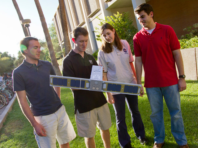 Engineering students on path to build fully functioning satellite