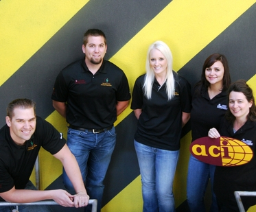 Community outreach activities by the ASU student chapter of the American Concrette Institute helped the university earn an award from the institute's leadership. Pictured are chapter board members (left to right): Joshua Marriott, community service director; Sawyer Zuber, president; Amanda Nichols, social activities chair; Ashley Bagley, student relations coordinator; and Kim Rahberger, external communications officer. Photo: Stephanie Mabee/ASU