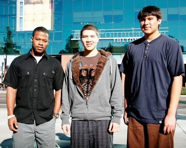 ASU chemical engineering students (left to right) Dennis Pittman, David Gonzalez and Nicolas Acuna are American Chemical Society Scholars. Photo: Blaine Coury/ASU