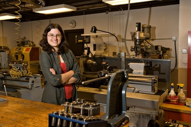 After college Amy Kaczmarowski wants to improve technology that will make a space faring civilization possible. Tom Story Photo.