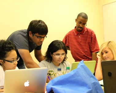 Sunder Karthik is conducting free tutoring sessions for fellow ASU engineering students struggling with their physics lessons and review sessions for close to 30 freshmen who need help learning calculus.