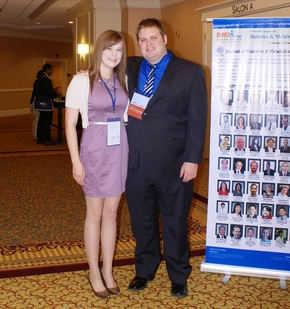 ASU Biomedical engineering students Teagan Adamson and Zachary Decke gave a presentation on their research.