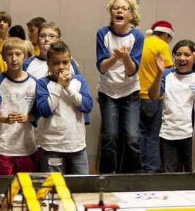 Friends and family members will cheer on 400 Arizona middle school students and their robots as the youngsters compete in the 2010 FIRST LEGO League state championship tournament Dec. 11 at Arizona State University