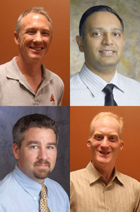 Clockwise from top left: James Middleton, Tirupalavanam Ganesh, Brian Nelson, Robert Atkinson