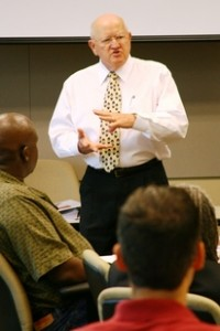 ASU professor Thomas Schleifer is teaching small business owners how to expand their ventures. Photo by: Blaine Coury