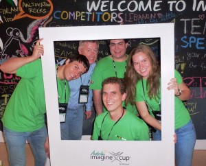 FlashFood team in official Microsoft Imagine Cup World Finals photograph