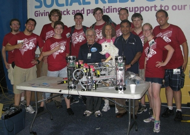 Team picture with the Koi robot and MATE officials