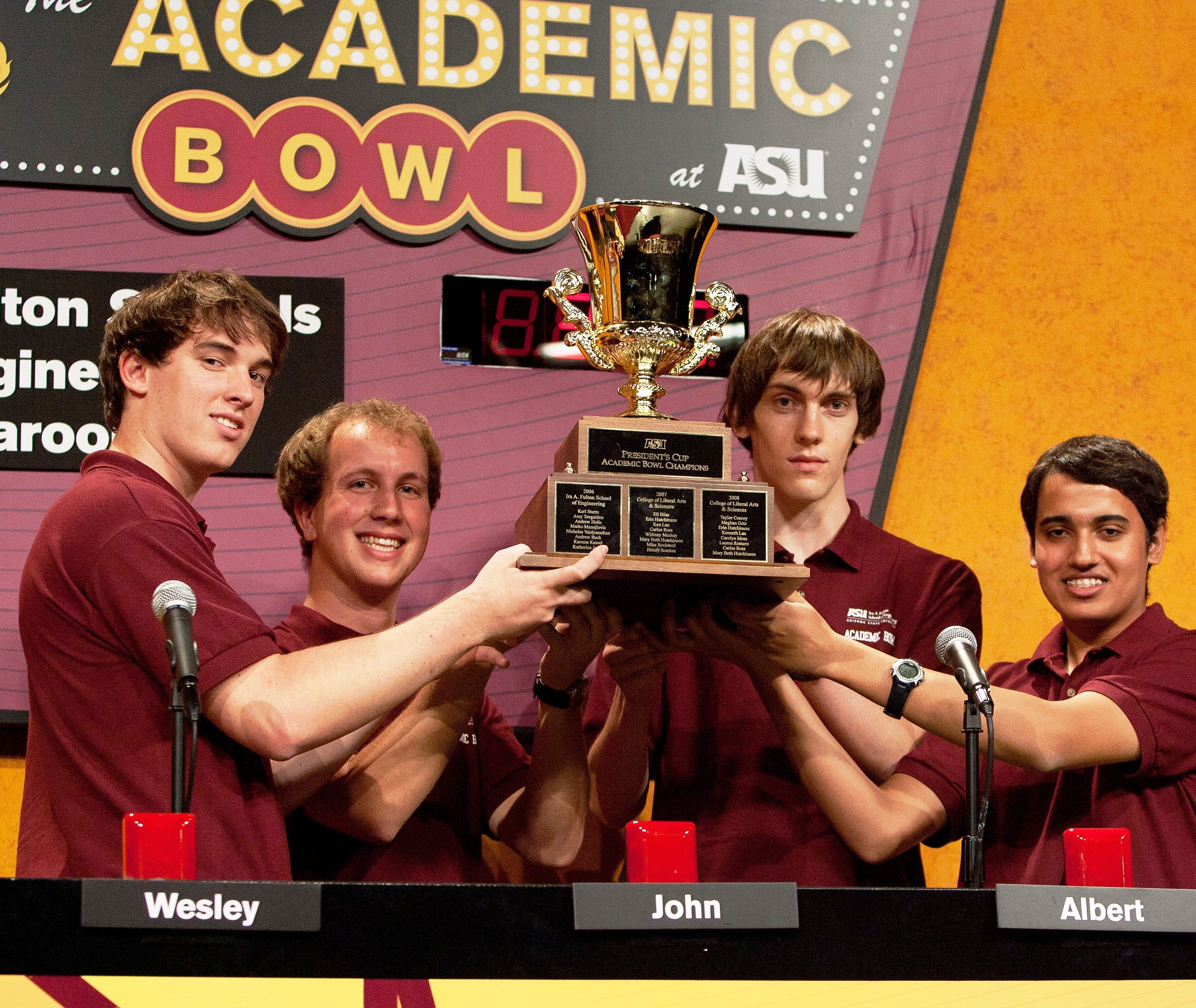 Ira A. Fulton Schools of Engineering team wins 2012 ASU Academic Bowl