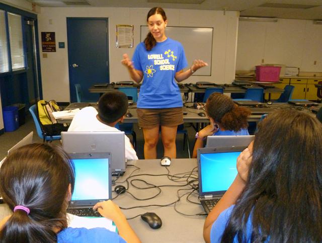 Meghan Moloney teaching