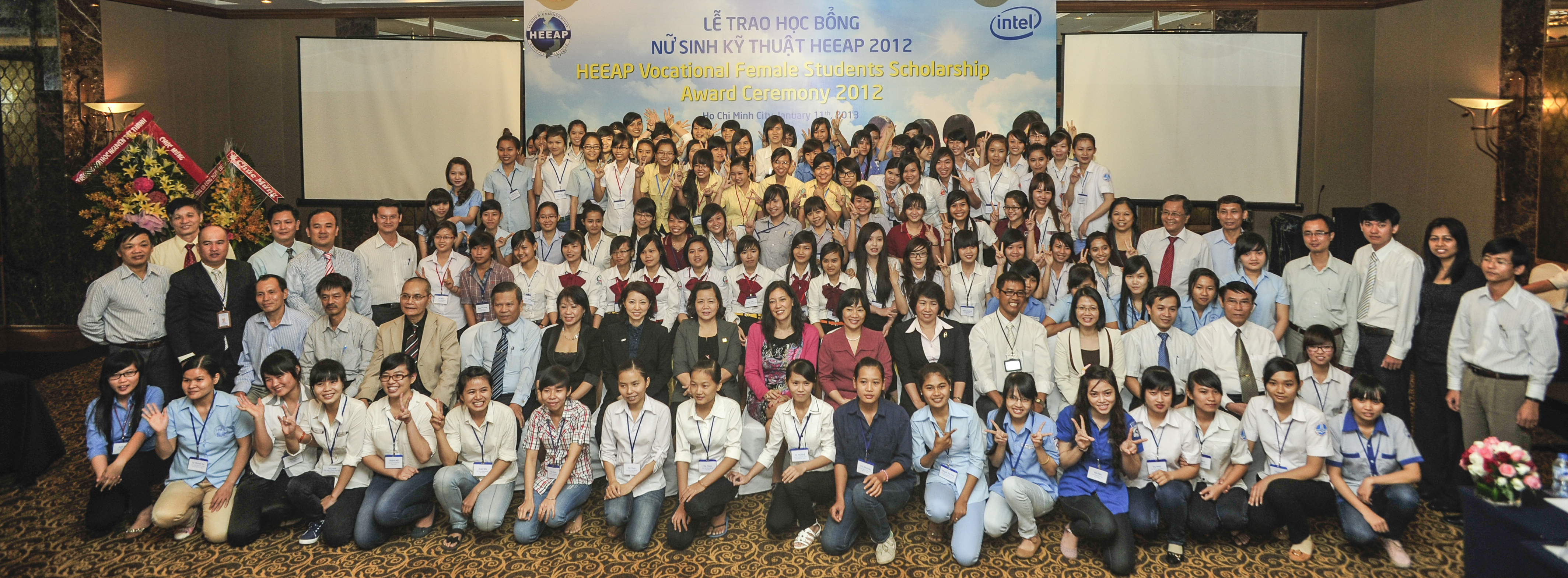 The first recipients of awards through the HEEAP Vocational Female Students Scholarship program were recognized at a ceremony held in Vietnam on January 11, 2013.