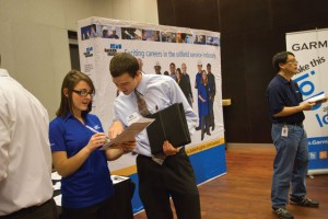 The Engineering Career Center hosts two career fairs every year.