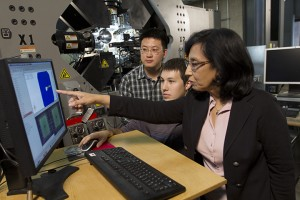 Aditi Chattopadhyay in lab