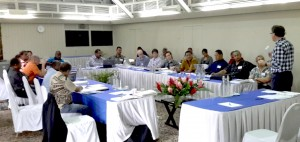 Participants in wind energy workshop.