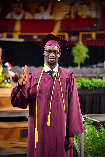 ASU graduates its first undergraduate MasterCard Foundation Scholar, an electrical engineer