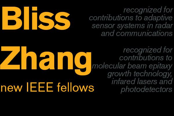 Achievements earn Bliss, Zhang IEEE Fellow status