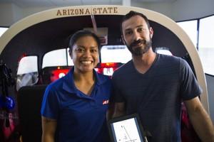 ASU aviation program students