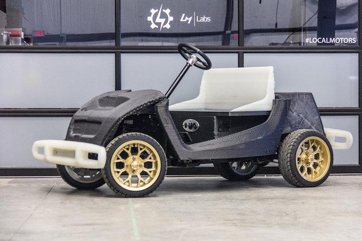 Local motors asu partner on r d for 3d printed car for Local motors 3d printed car