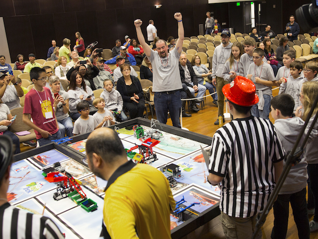 The exuberance of middle school students at the state championship tournament is evidence of Fulton Schools' growing success at instilling a love of discovery through robotics.