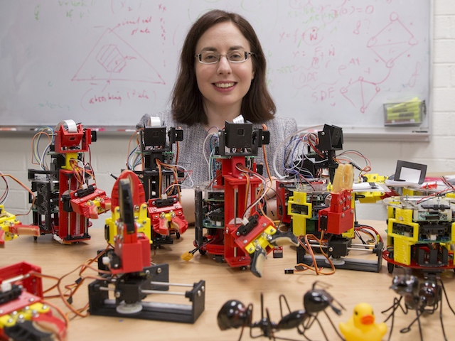 ASU engineer Spring Berman's creatively designed bio-inspired robots are drawing attention in the robotics field.