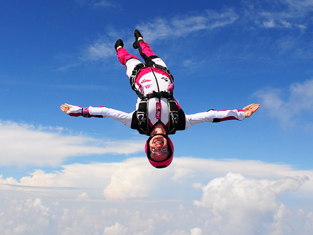 Nadia Kellam, a freestyle skydiver and engineering professor, not only experiences risk firsthand as she falls from the sky, but she also researches the role of risk taking in engineering education.
