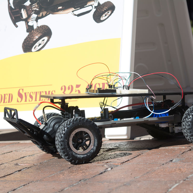 Robotic autonomous cars teach whole system design