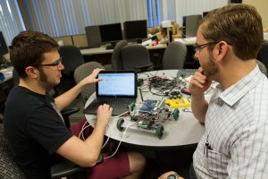 Students work on an Intel Cornell Cup project.