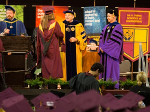 Ron Askin at the fall 2015 convocation.