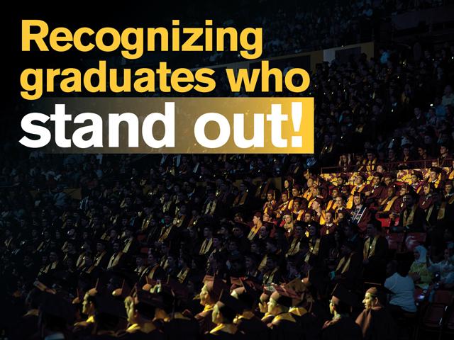 Meet Spring 2016's outstanding, distinguished undergraduates