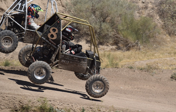 The resilience of off-road vehicles designed and built by students is put the the test on an endurance race on rough, bumpy terrain. Photograph courtesy of Sun Devil Racing Development.
