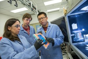 Mariana Bertoni and her students study defects in solar cell materials at the Defect Engineering for Energy Conversion Technologies Lab, of which Bertoni is principal investigator