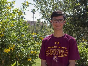 Ryan Bodhipaksha, class of 2020, Ira A. Fulton Schools of Engineering, Arizona State University, ASU