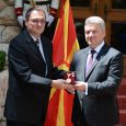 Associate Professor Kiril Hristovski received the highest recognition a civilian can earn from the government of Macedonia for research excellence and collaborative efforts toward his country of origin.