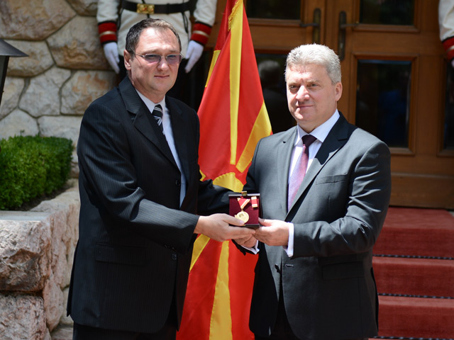 ASU engineer earns medal of merit from Macedonian president