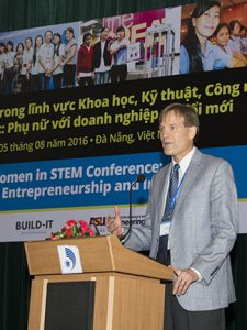 USAID Vietnam Mission Director Michael Greene addressed expanding opportunities for women in technology careers.