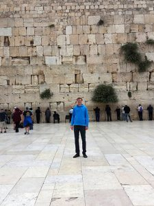 Shaun Wootten at the Western Wall in in the Old City of Jerusalem. Photo courtesy of Shaun Wootten