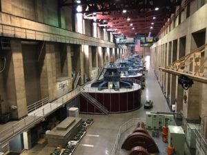 """a photo of the inner working of the Hoover Dam with a caption of """"Inside Hoover Dam. Photo credit: Usama Khalid, NUST/ASU."""""""