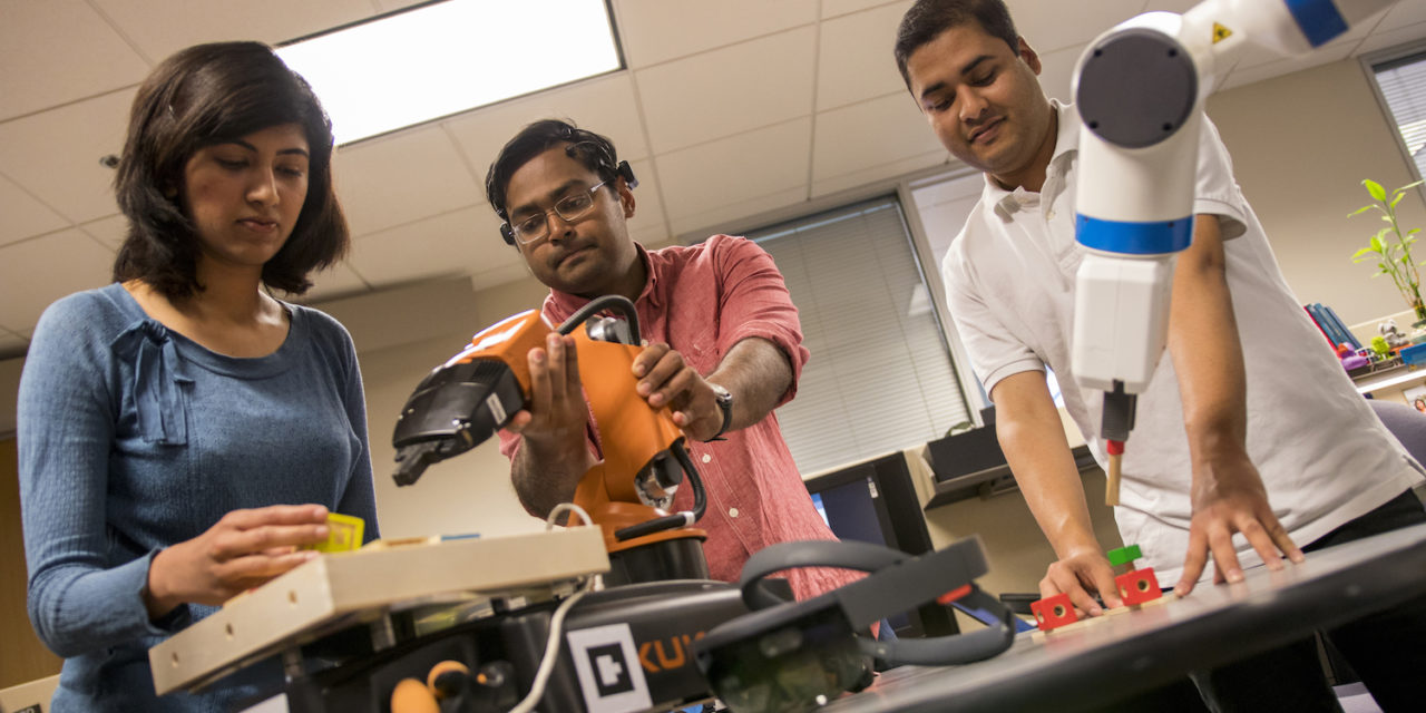 ASU team taking concept for closer human-robot connection to U.S. Imagine Cup finals