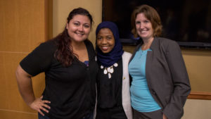 Photo of Jade Silva, Mariama Salifu and Amy Trowbridge