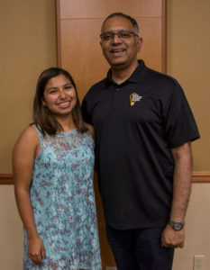 Photo of Raquel Camarena and Tirupalavanam Ganesh.