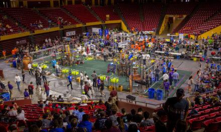 Robots battle for <em>FIRST</em> Robotics Competition State Championship