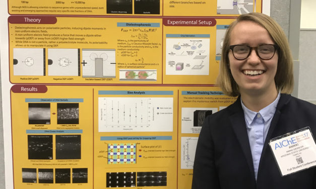 Chemical engineering student wins poster award at national conference