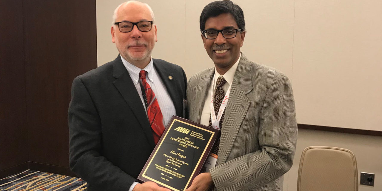 Award spotlights Pendyala's wide-ranging impact on progress in transportation field