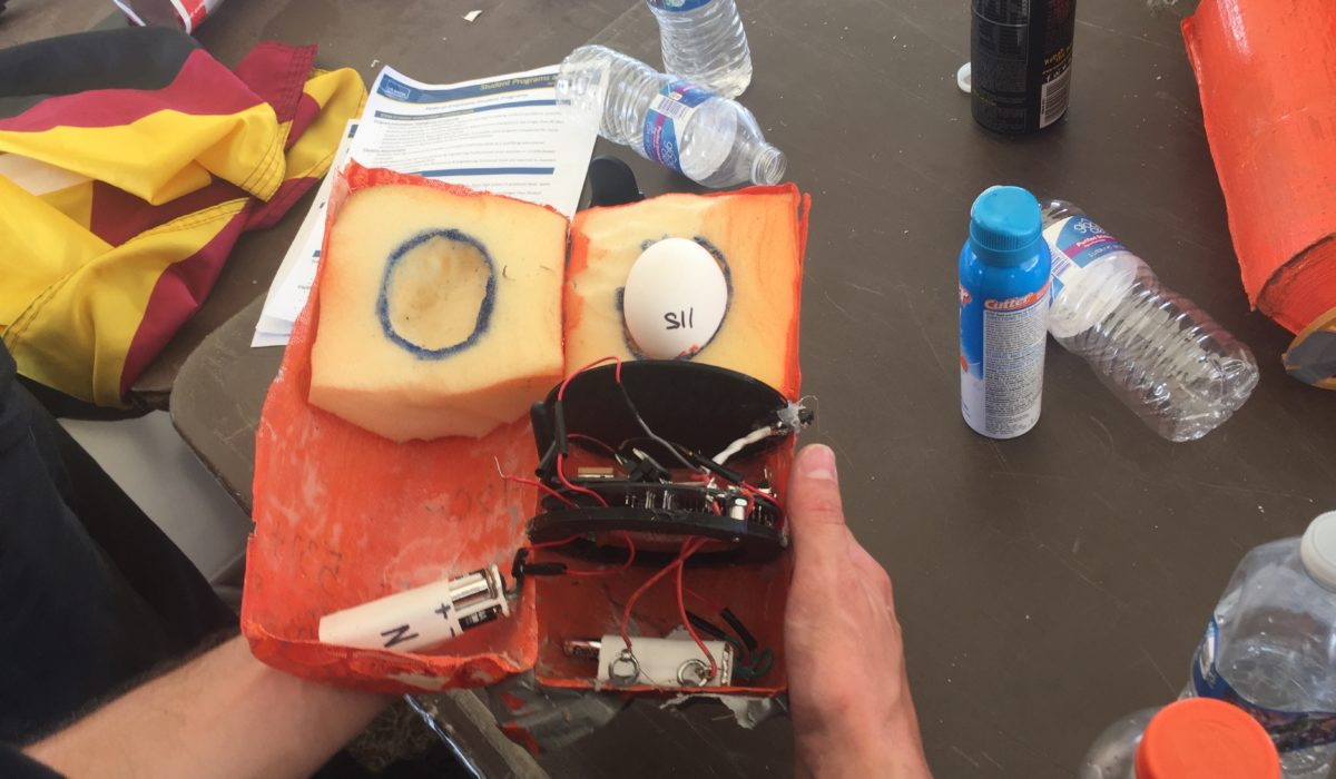 a cross-section view of a CanSat