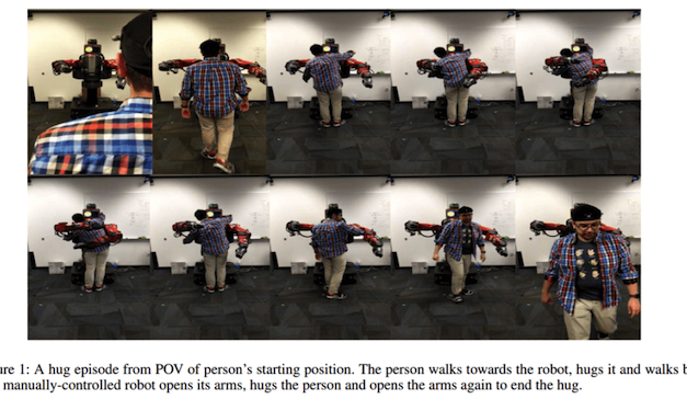 Free (Robot) Hugs! An Embracing Multimodal Dataset