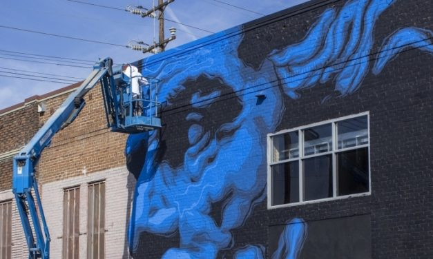Street Art Meets Climate Science in the Big, Blue Face of Zeus