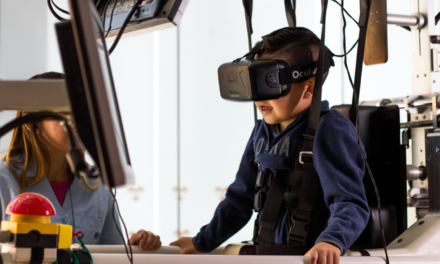 Young patients use virtual reality to focus on healing