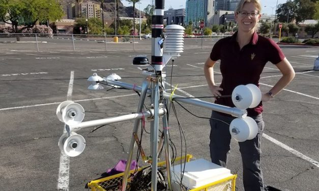 Mobile weather station can measure how a person experiences heat
