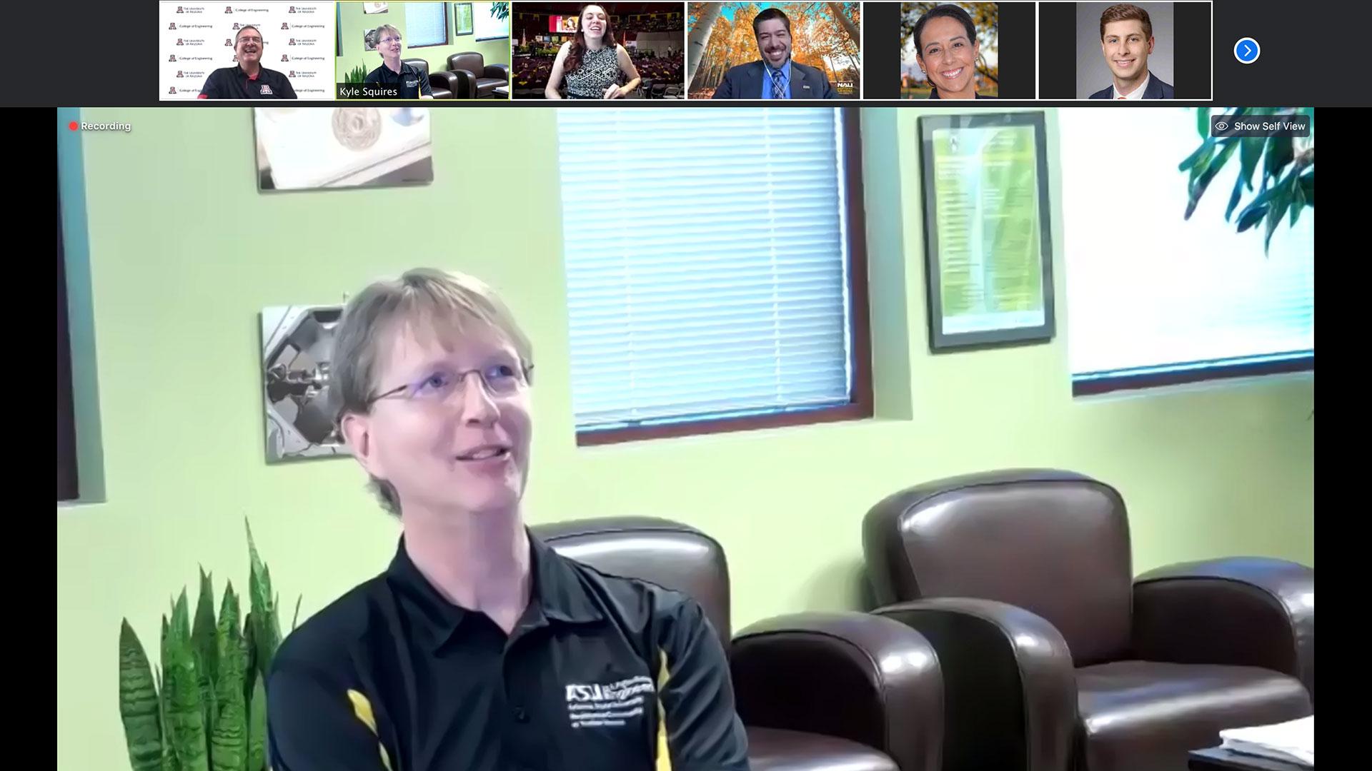 Arizona State University's Kyle Squires speaks during The Challenge online panel of Arizona university deans.