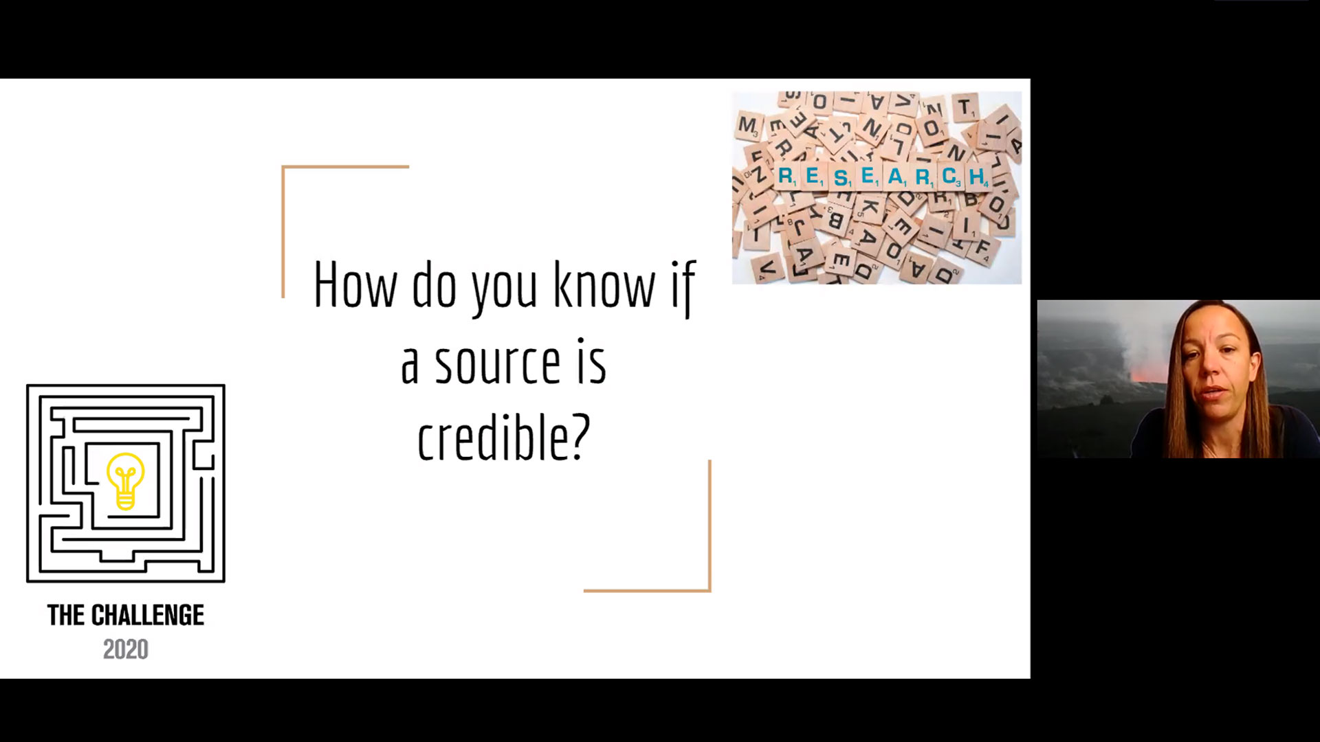 Mountain Pointe High School engineering teacher Mel Wendell teaches participants of The Challenge how to find credible sources for their research.